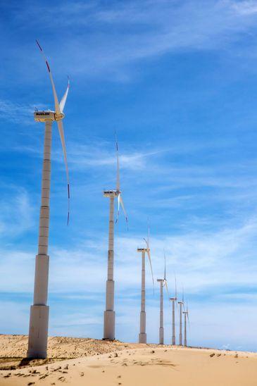 Brasil tem 568 parques eólicos e mais de 7.000 aerogeradores em 12 estados