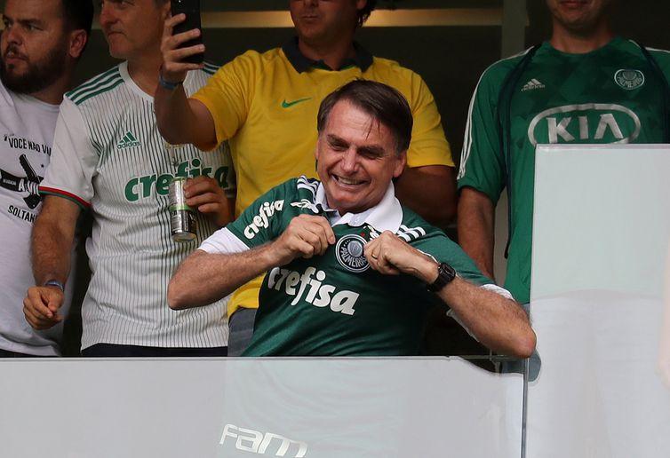 Bolsonaro, Jogo, Palmeiras   REUTERS/Paulo Whitaker