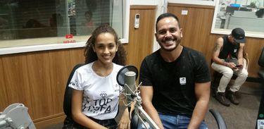 Modelo Isabela Lima e Bruno Kesseler, presidente da Top Cufa-DF