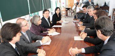 Ministra Cármen Lúcia recebe em audiência autoridades para tratar de obras da transposição do São Francisco