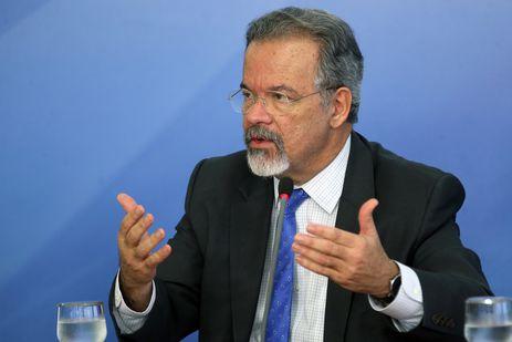 O ministro da Segurança Pública, Raul Jungmann, durante entrevista coletiva, no Palácio do Planalto.