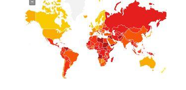 Mapa da corrupção - Transparência internacional