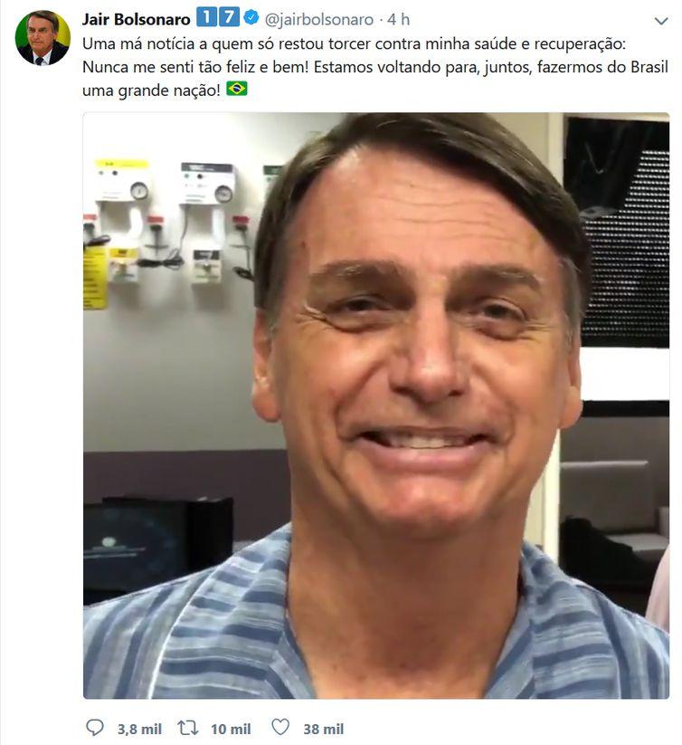 Vídeo do Twitter de Jair Bolsonaro
