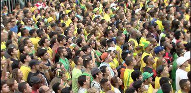 Torcedores brasileiros durante jogo da Copa de 2014