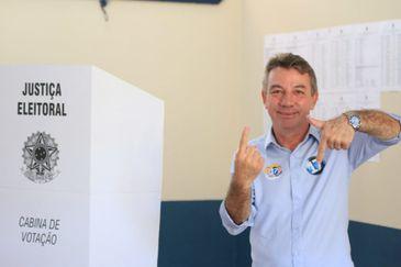 O candidato ao governo de Rondônia pelo PSL, Antonio Denarium