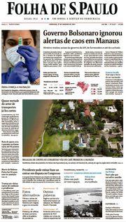 Capa do Jornal Folha de S. Paulo Edição 2021-01-17