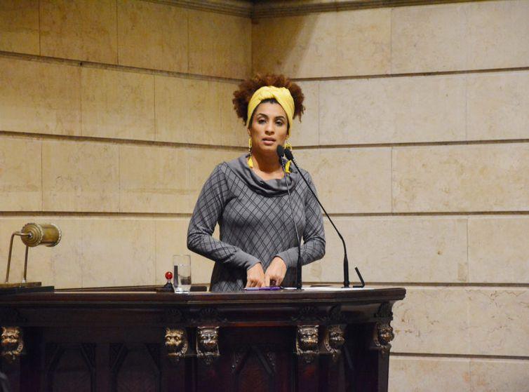 Marielle Franco (PSOL) na Câmara de Vereadores do Rio de Janeiro