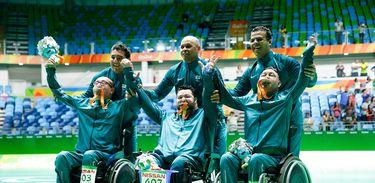 Rio de Janeiro - Brasileiros ficam com medalha de prata após derrota para Eslováquia na final da bocha BC4 nos Jogos Paralímpicos Rio 2016  (Fernando Frazão/Agência Brasil)