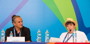 Os diretores criativos Fred Gelli e Marcelo Rubens Paiva falam sobre a cerimônia de abertura da Paralimpíada (Rio 2016/Gabriel Nascimento)
