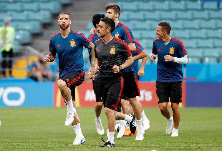 Treino da seleção da Espanha