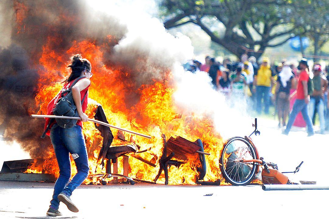 Nach den Protesten im Regierungsviertel von Brasilía