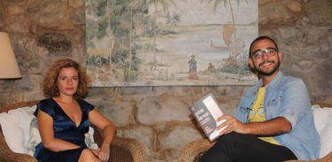 Raphael Montes conversa com a jornalista portuguesaJoana Gorjão Henriques