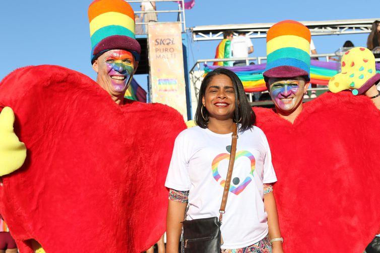 22ª Parada do Orgulho LGBTQI de Brasília. na foto, Rosa Sandra posa para foto
