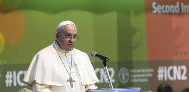 Papa Francisco em visita à FAO em 2014