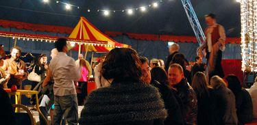 Palhaço se apresenta em circo