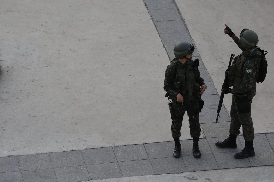 Rio de Janeiro - Segurança para cerimônia de abertura dos Jogos Olímpicos Rio 2016 no Estádio do Maracanã (Fernando Frazão/Agência Brasil)