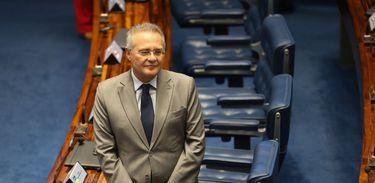 Brasília - Senador Renan Calheiros durante sessão que aprovou Instituto de Políticas Públicas de Direitos Humanos do Mercosul (Fabio Rodrigues Pozzebom/Agência Brasil)