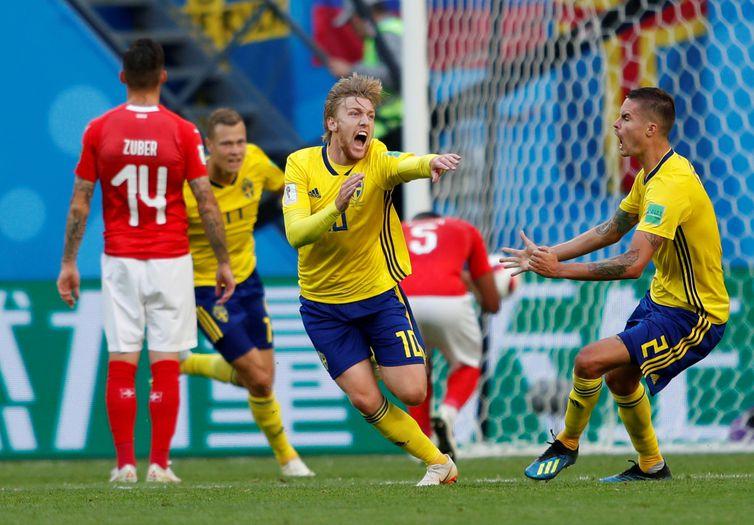 Copa 2018, Suiça e Suécia, Gol