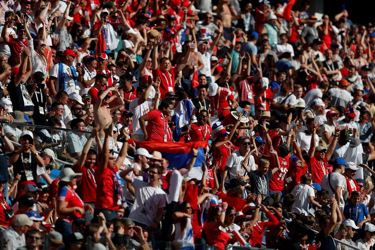 Soccer Football - World Cup - Group G - England vs Panama - Nizhny Novgorod Stadium, Nizhny Novgorod, Russia - June 24, 2018 Panama fans during the match REUTERS/Matthew Childs