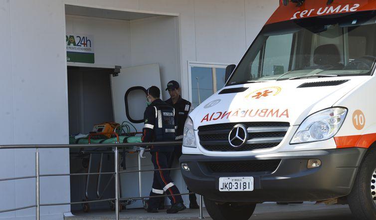 Um paciente espanhol está isolado na Unidade de Pronto Atendimento (UPA) de Sobradinho 2, no Distrito Federal, por apresentar sintomas característicos de ebola (Antonio Cruz/Agência Brasil)
