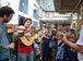 Rio de Janeiro - Trem do Choro parte da Estação Central do Brasil com músicos e amantes do ritmo, em comemoração ao Dia Nacional do Choro e aos 120 anos de Pixinguinha e 100 anos de Carinhoso (Tânia Rêgo/Agência Brasil)