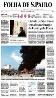 Capa do Jornal Folha de S. Paulo Edição 2020-09-11