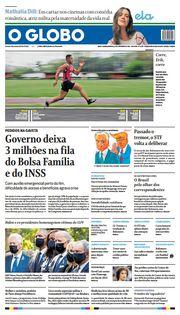 Capa do Jornal O Globo Edição 2021-09-12