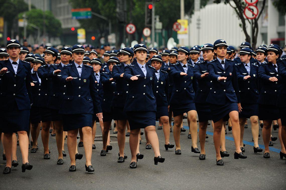 Desfile cívico-militar do 7 de setembro na Avenida Presidente Vargas, centro do Rio de Janeiro (Fernando Frazão/Agência Brasil)