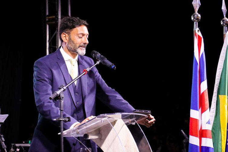 O embaixador britânico no Brasil, Vijay Rangarajan
