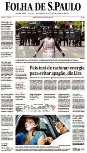 Capa do Jornal Folha de S. Paulo Edição 2021-06-23
