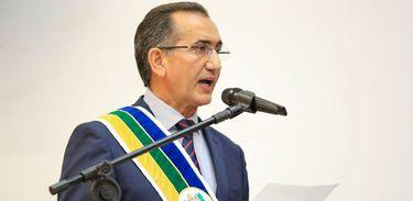 Waldir Góes fala em seu discurso, que vai buscar relação de respeito com o Presidente Bolsonaro