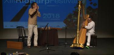 Partituras exibe apresentação do duo Mikuskovics Baum durante o Rio Harp Festival 2018