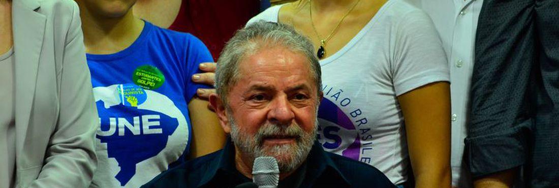 Lula em entrevista no Diretório Nacional do PT em São Paulo