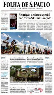 Capa do Jornal Folha de S. Paulo Edição 2021-01-10