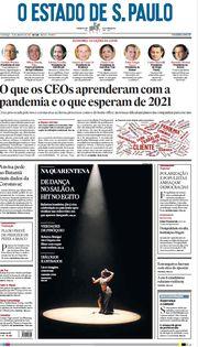 Capa do Jornal O Estado de S. Paulo Edição 2021-01-10