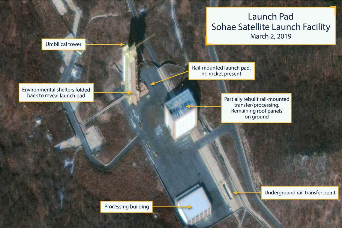 Imagem de satélite comercial mostra a Estação de Lançamento de Satélites da Coreia do Norte