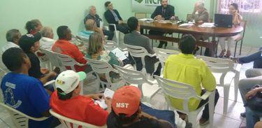 Ciclo de reuniões com debates sobre conflitos agrários no Maranhão.