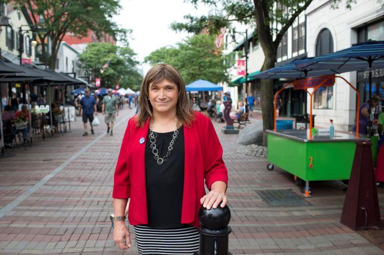 Pré-candidata democrata ao governo de Vermont Christine Hallquist REUTERS/Caleb Kenna/Direitos Reservados