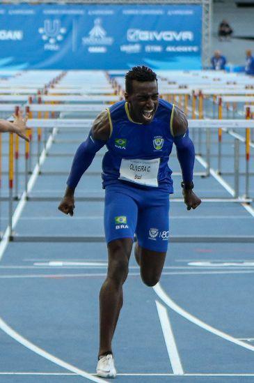 Gabriel Constantino conquistou medalha de ouro nos 110m com barreiras fez um tempo de 13s22