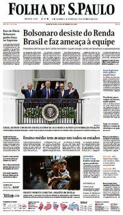 Capa do Jornal Folha de S. Paulo Edição 2020-09-16