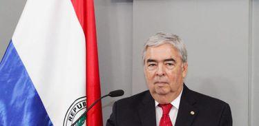 O vice-chanceler do Paraguai, Hugo Saguier