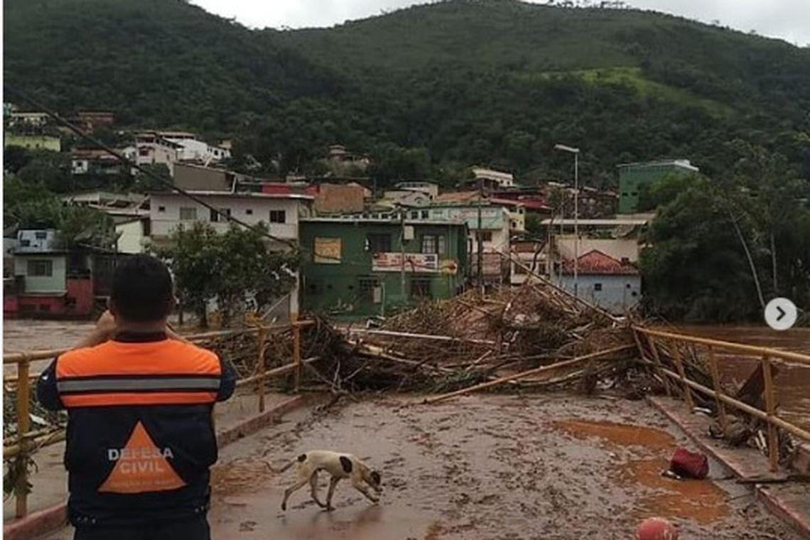 estragos das chuvas em Belo Horizonte