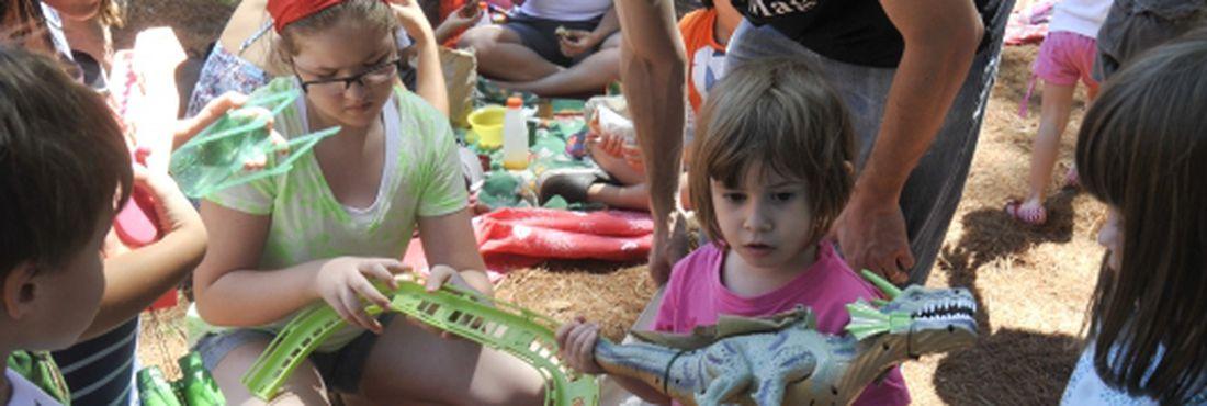 A 1ª Feira de Troca de Brinquedos de Brasília, realizada no Jardim Botânico, reuniu centenas de famílias.