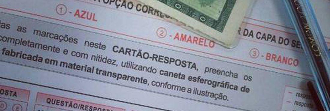 Foto do cartão de resposta do ENEM, tirada em local de aplicação da prova. (Foto: Reprodução da internet)