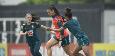 Treino da Seleção Feminina no CT do Corinthians