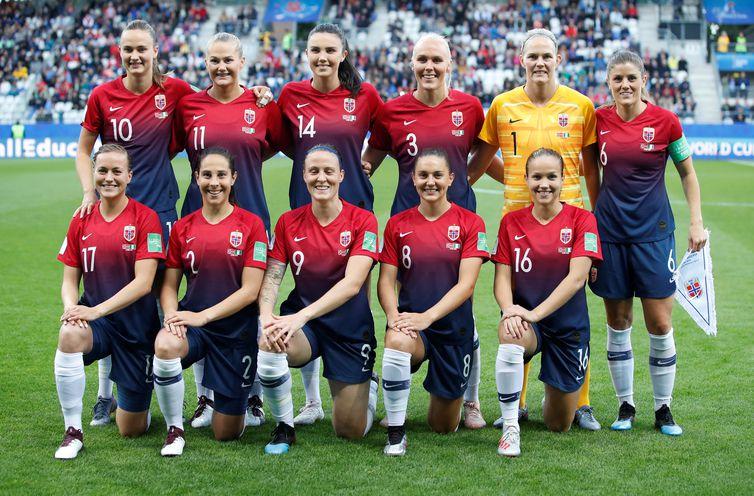 Seleção da Noruega na Copa do Mundo de Futebol Feminino - França 2019.