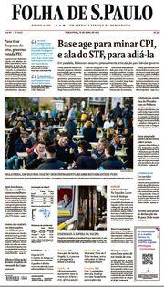 Capa do Jornal Folha de S. Paulo Edição 2021-04-13