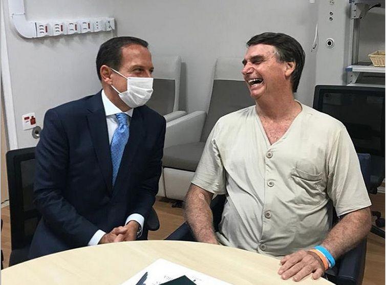 - Bolsonaro recebe a visita do governador de São Paulo João Doria-  strong João Doria/Redes Sociais/Direitos reservados /strong