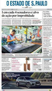 Capa do Jornal O Estado de S. Paulo Edição 2021-06-21