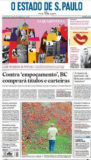 Capa do Jornal O Estado de S. Paulo Edição 2020-04-06